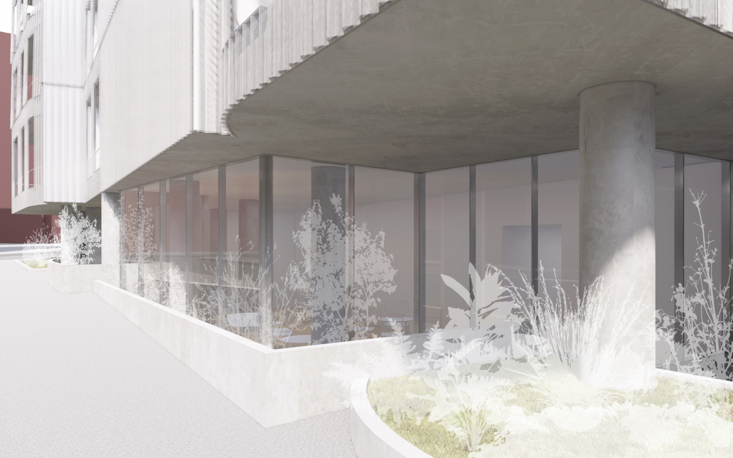 Rendering of Ground Floor at 219 Jay Street. Courtesy of Tankhouse Development