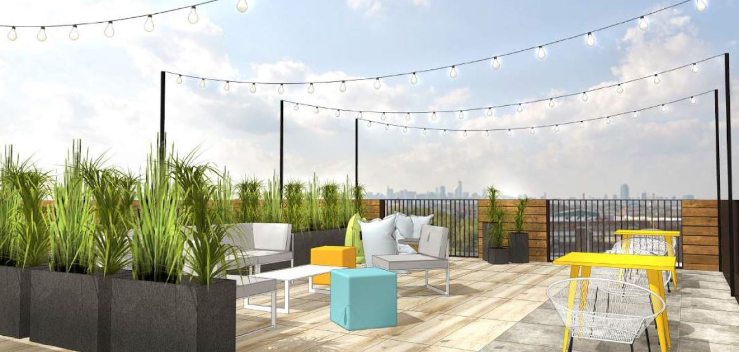 Rooftop at 2741 Fulton Street