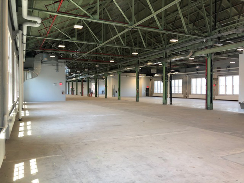 Completed conditions within Building 127 - Brooklyn Navy Yard Development Corporation