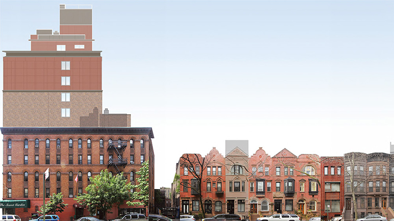 Existing elevations at 110 West 88th Street - DXA Studio