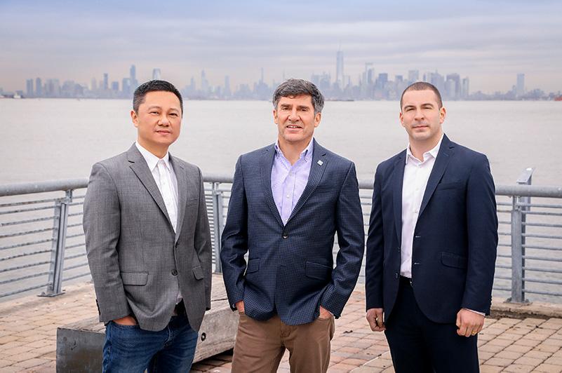 (From Right to Left) Tim Huang, Joe Tirone, Salvatore Ingravallo; Three members of The Joe Tirone Team - Photo Courtesy of Compass