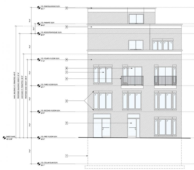 Front Elevation at 106-108 Terrace View Avenue - Badaly Engineering