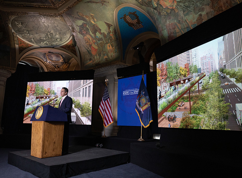 Governor Andrew M. Cuomo delivers his 2021 State of the State Address-Day 4 in the War Room at the State Capitol - Photo by Mike Groll_Office of Governor Andrew M. Cuomo