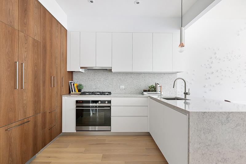 Model Kitchen at 552 Prospect Place - CAVU Property Management
