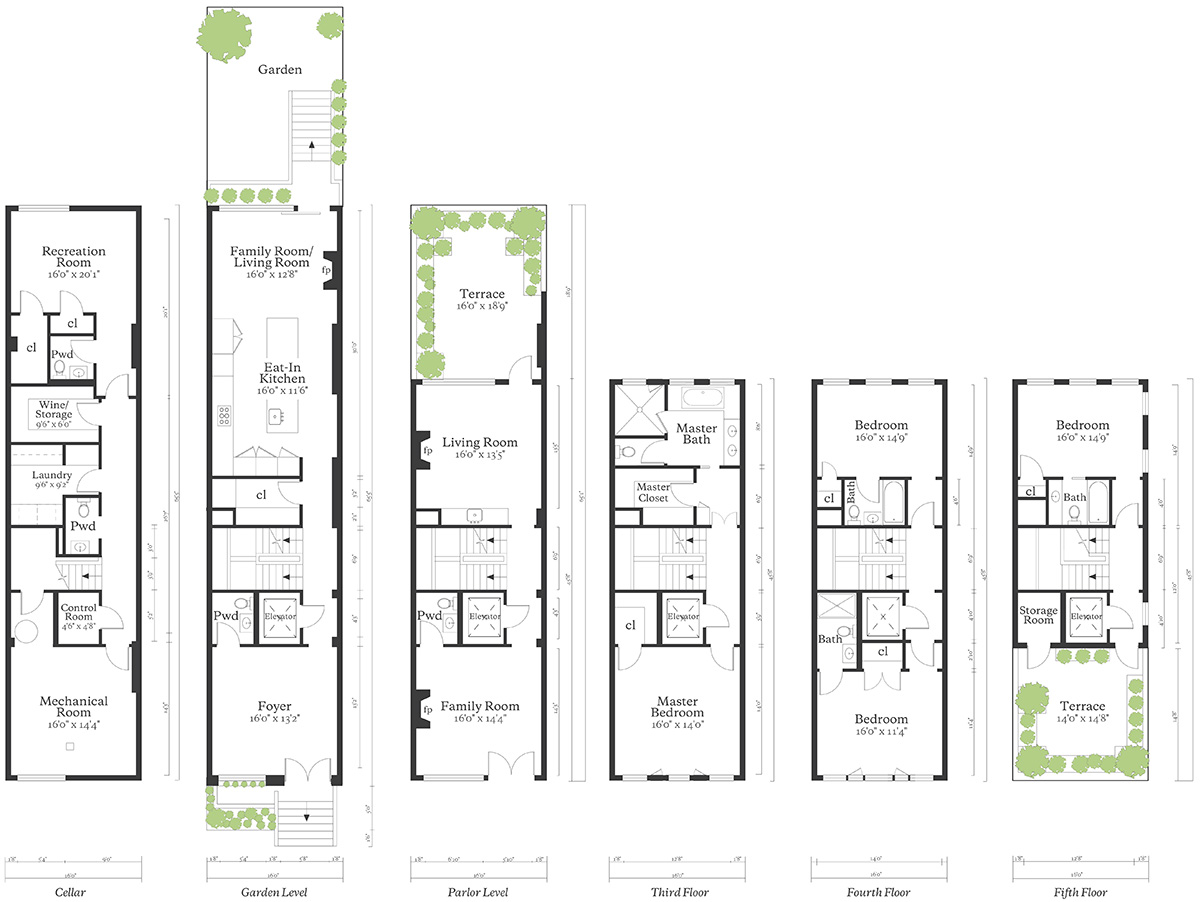 Previous floor plans for 110 West 88th Street - Leslie J. Garfield