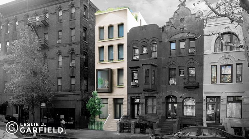 Previous renderings of 110 West 88th Street - Leslie J. Garfield
