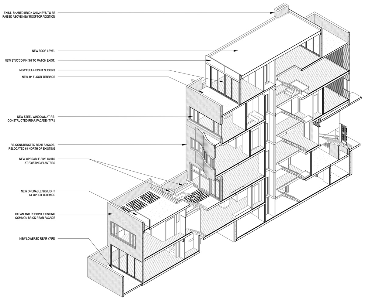 Proposed renovation at the Lescaze House (211 East 48th Street) - The Turett Collective