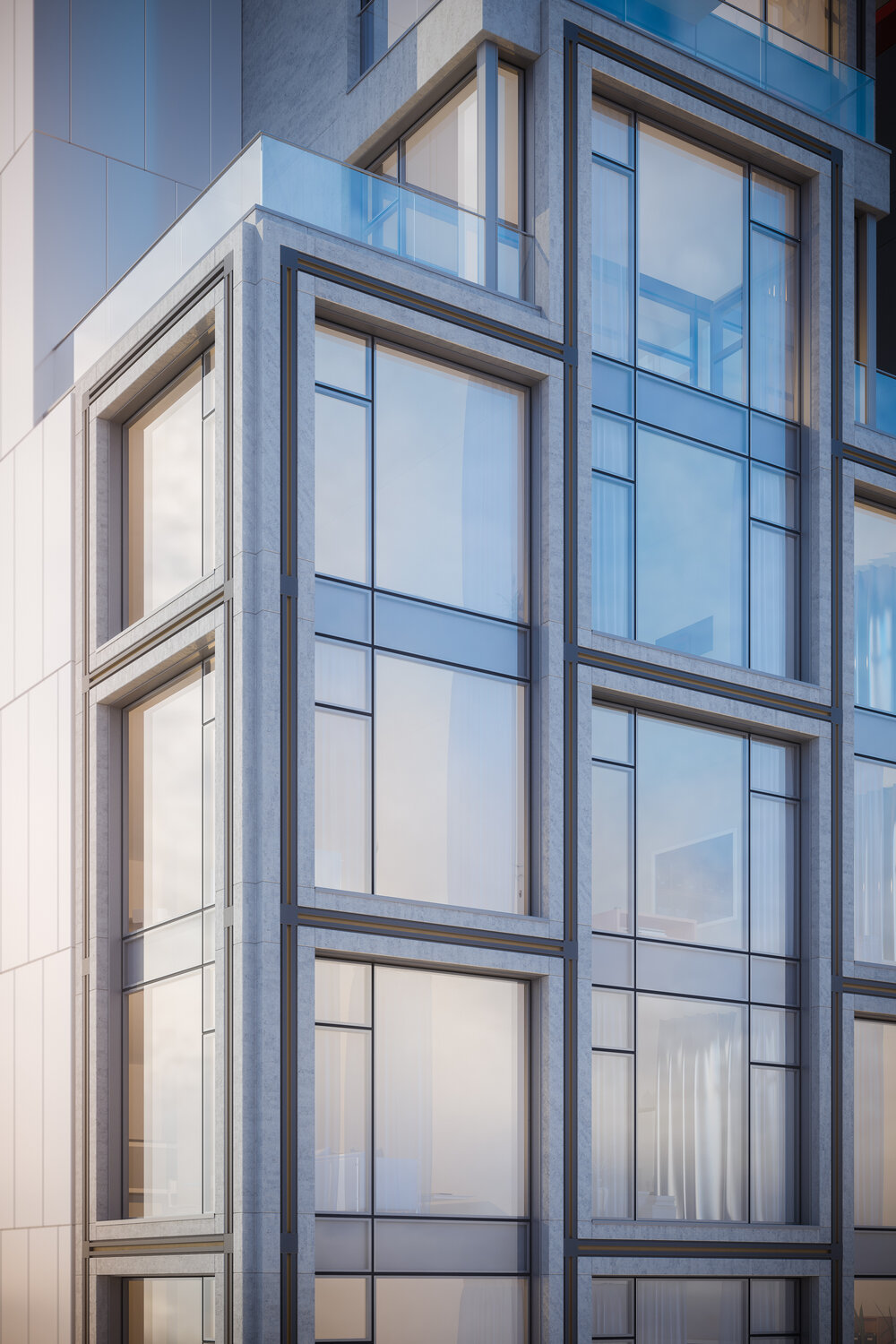 Rendering of 1009 Second Avenue facade - Issac & Stern Architects