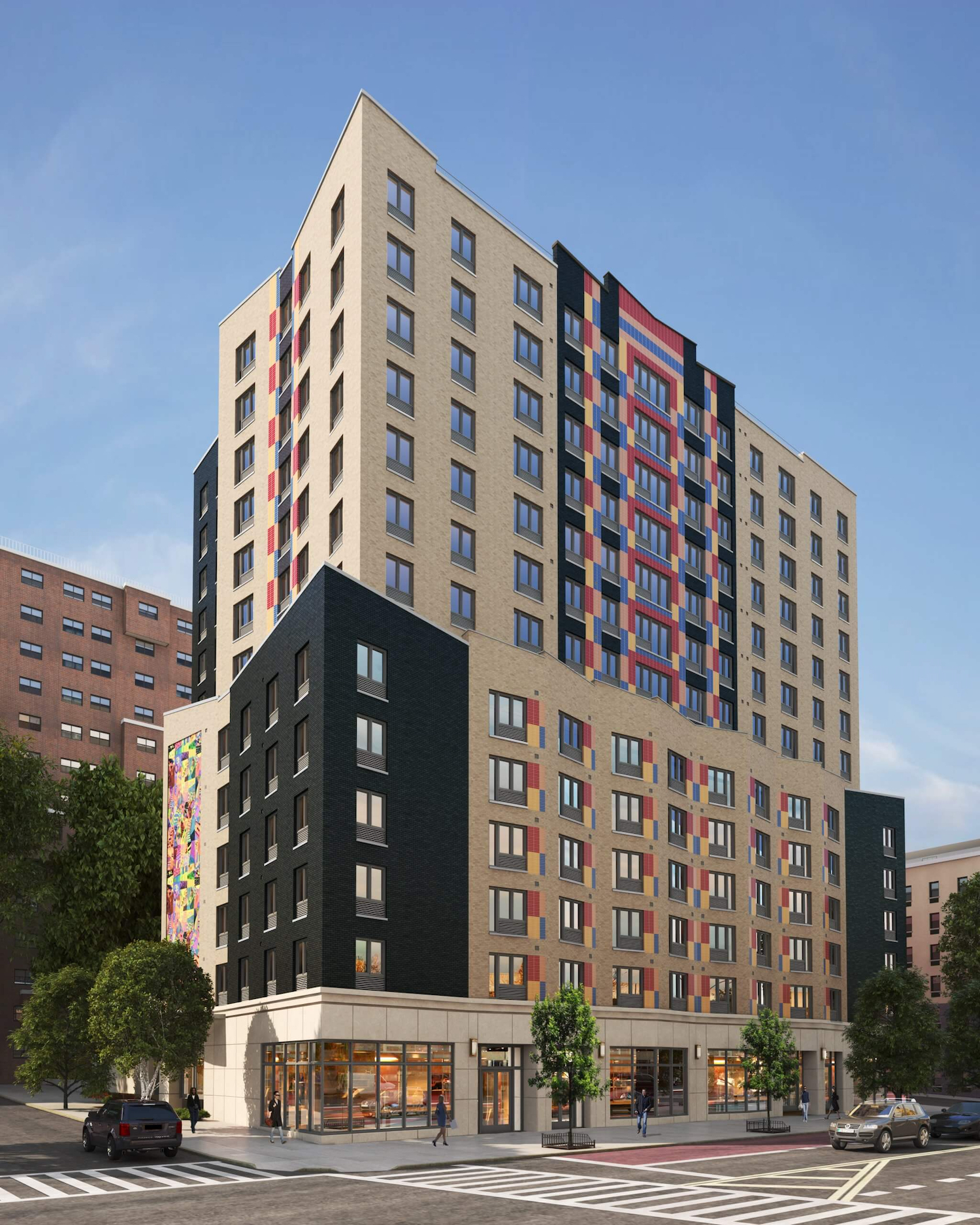 Rendering of Twin Parks Terrace. Courtesy of Danois Architects