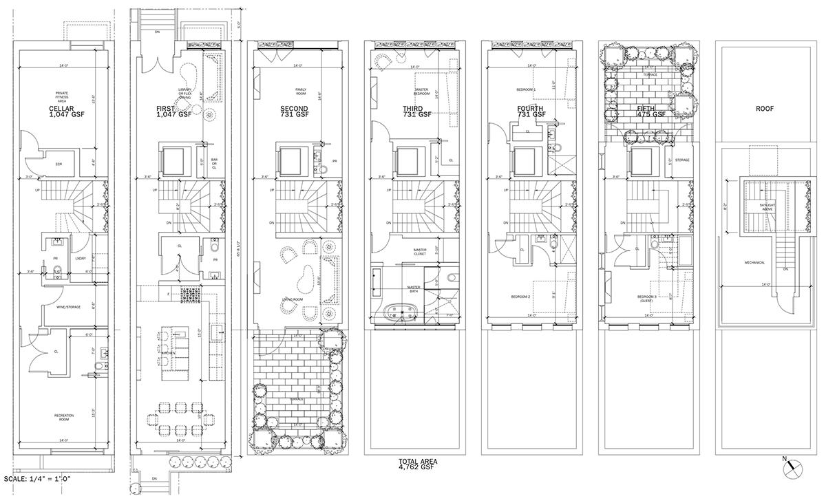 Updated floor plans for 110 West 88th Street - DXA Studio