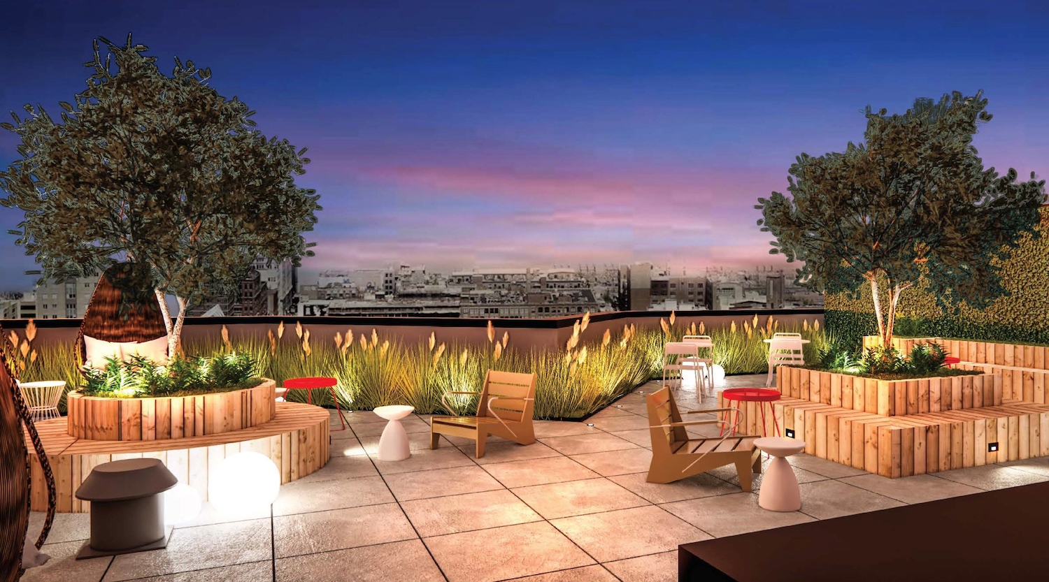 Rooftop at 1634 Church Avenue