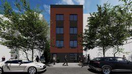 Front elevation at 1492 Bryant Avenue - Node Architecture