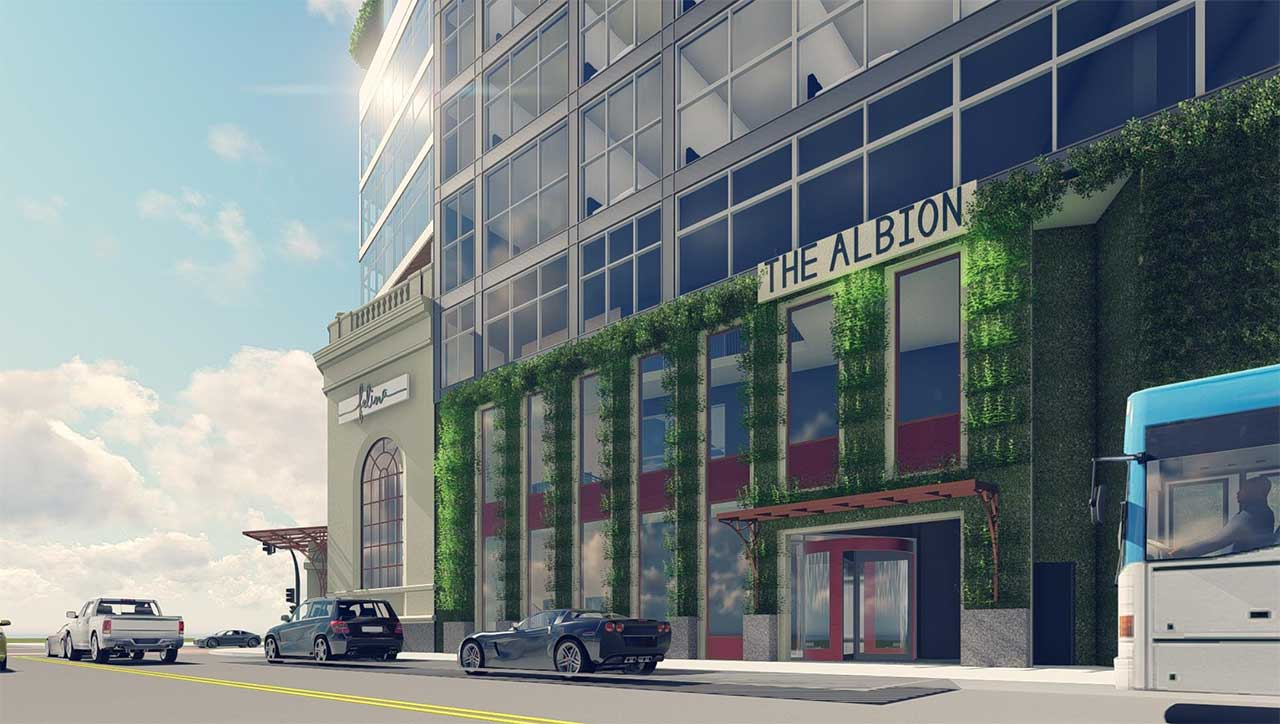 Rendering of The Albion Jersey City - The Landmark Companies