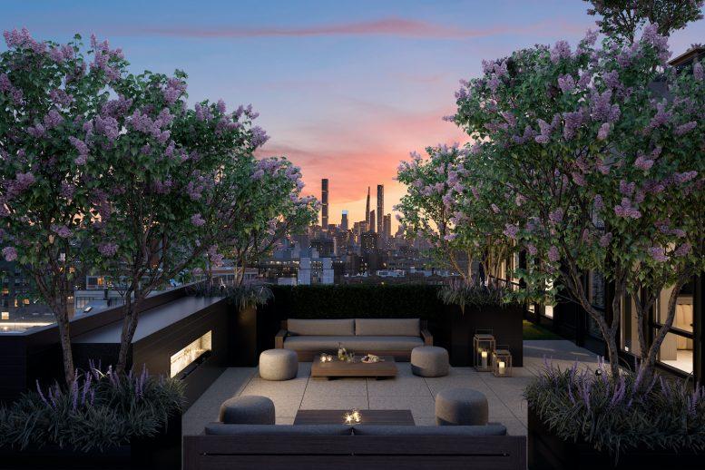 Sixth Floor Terrace of The Astor LIC, at 36-20 Steinway Street in Queens
