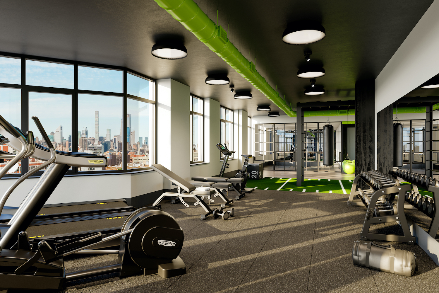 Gym at The Astor LIC, at 36-20 Steinway Street in Queens