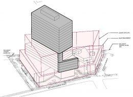 Axonometric rendering of 500 Kent Avenue - Kent Member LLC