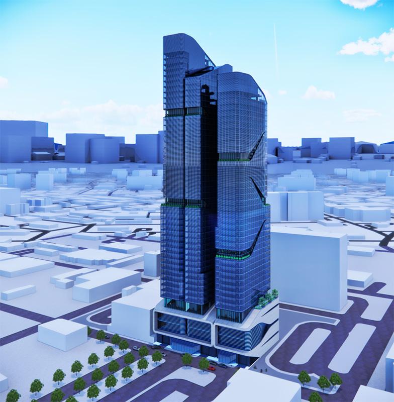 The aerial rendering illustrates the Halo INOA architecture