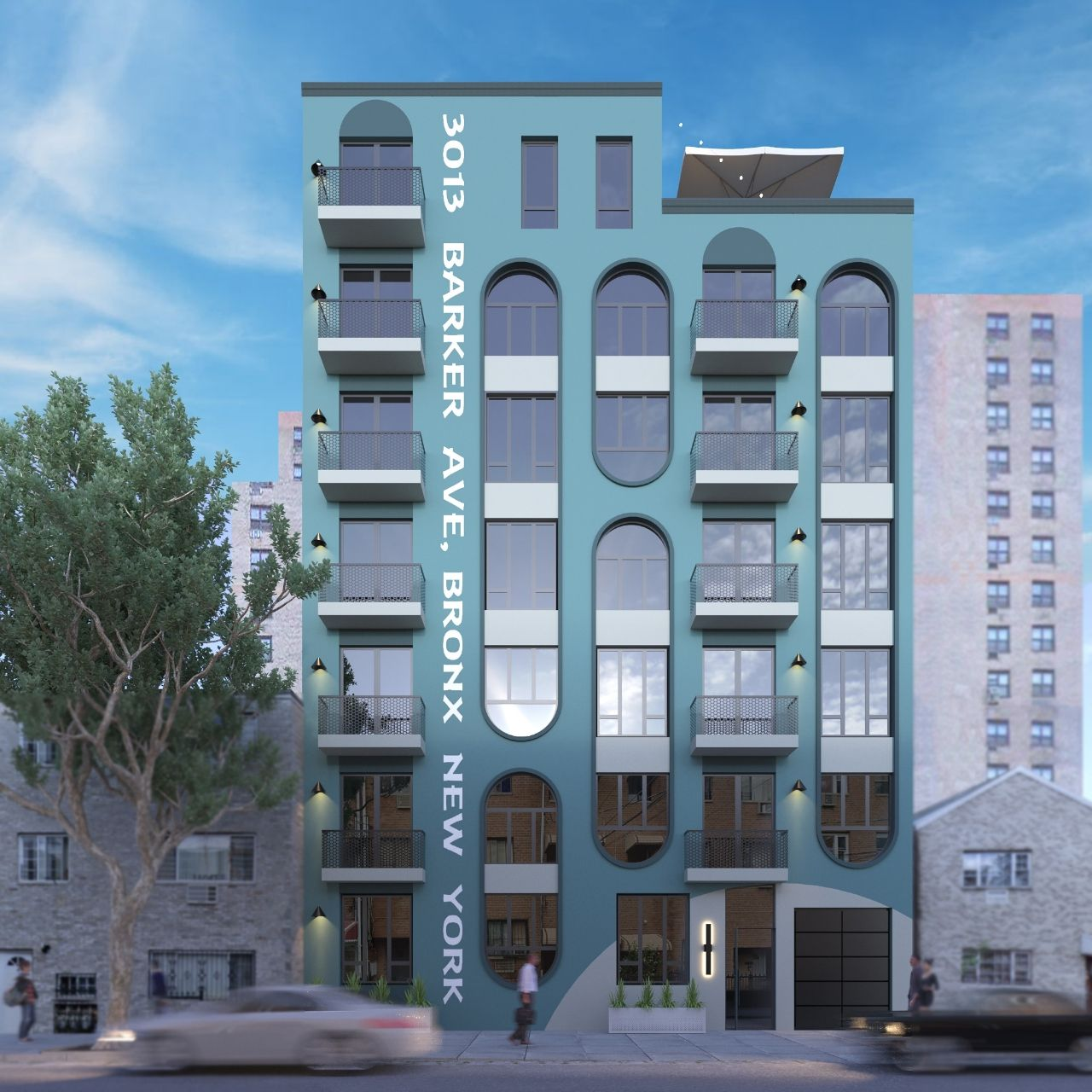 Exterior rendering of 3013 Barker Avenue - AM Architecture