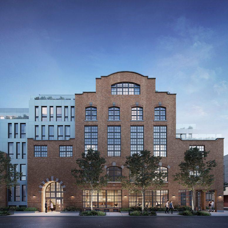 Exterior rendering of Wonder Lofts - Prism Capital Partners; MVMK Architecture + Design