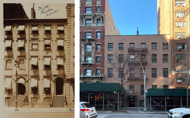 Historic photo of 14-16 Fifth Avenue circa 1925 (left) and existing conditions (right) - Madison Realty Capital