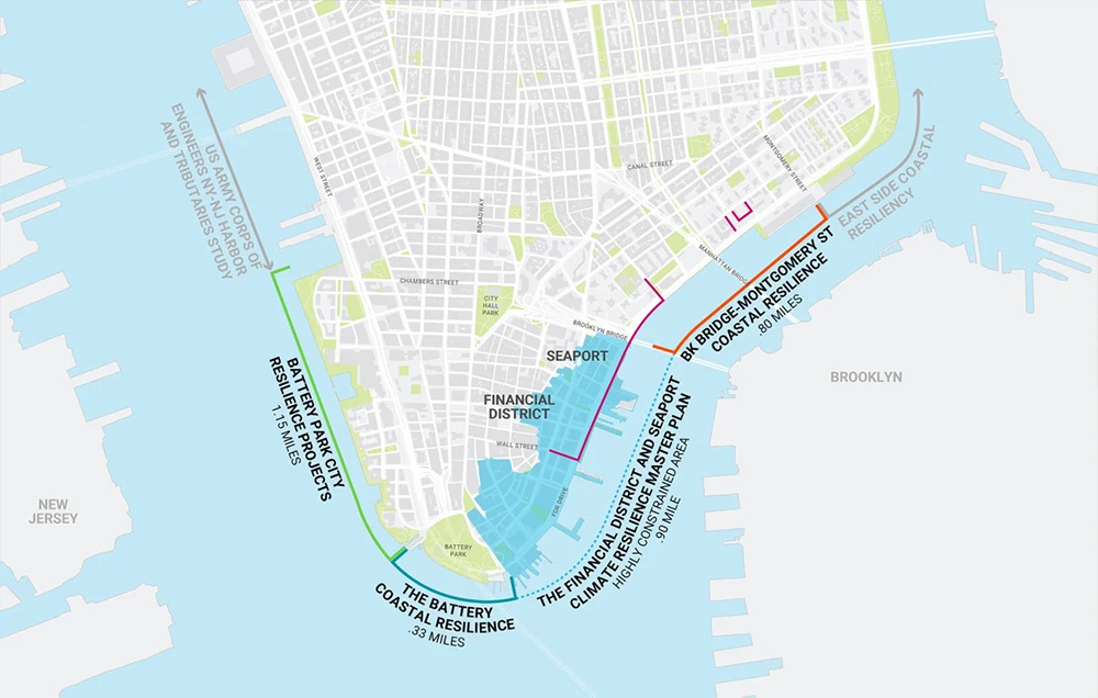 Overall scope of the Lower Manhattan Coastal Resiliency Project - NYEDC