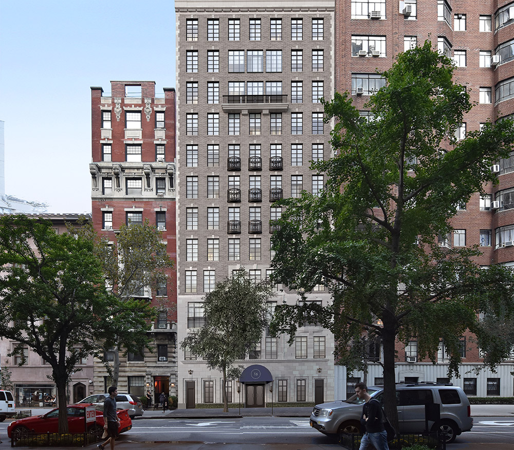 Rendering of 14-16 Fifth Avenue; Front elevation - Robert A.M. Stern Architects, Madison Realty Capital