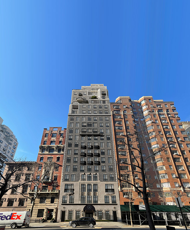 Rendering of 14-16 Fifth Avenue; Looking west from Fifth Avenue - Robert A.M. Stern Architects, Madison Realty Capital