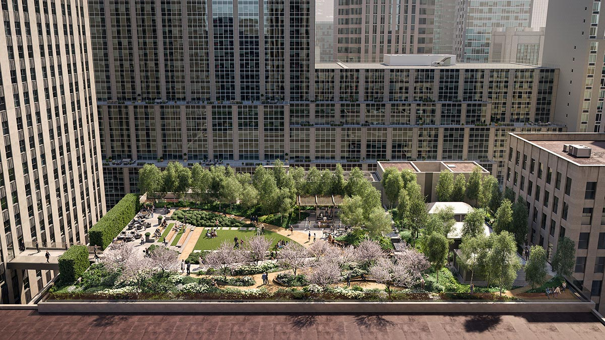 Rendering of Radio Park - Image by @binyanstudios, courtesy of Tishman Speyer