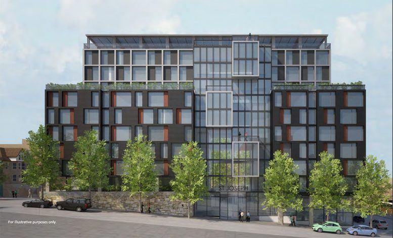 Rendering of St. Joseph Apartments at 1949 Bathgate Avenue - Magnusson Architecture and Planning