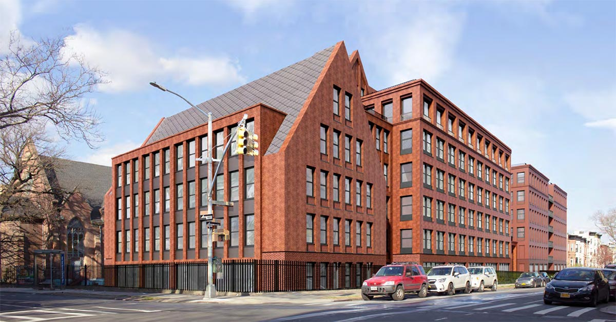 Revised rendering of 959 Sterling Place - Morris Adjmi Architects; Hope Street Capital