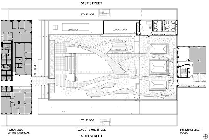 Roof plan for Radio Park - Courtesy of Tishman Speyer