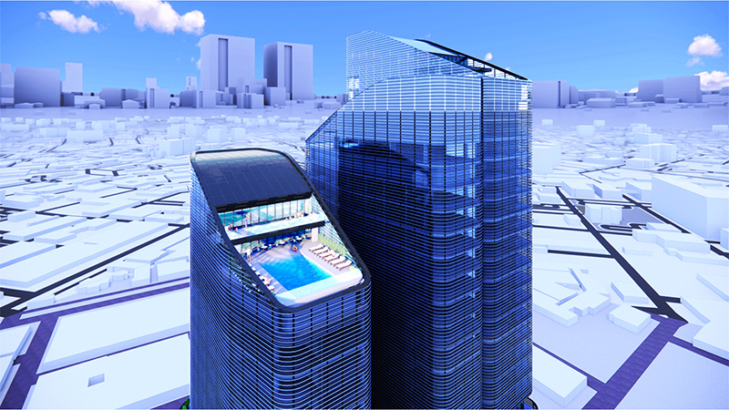 Rooftop Pool at The Halo - INOA Architecture