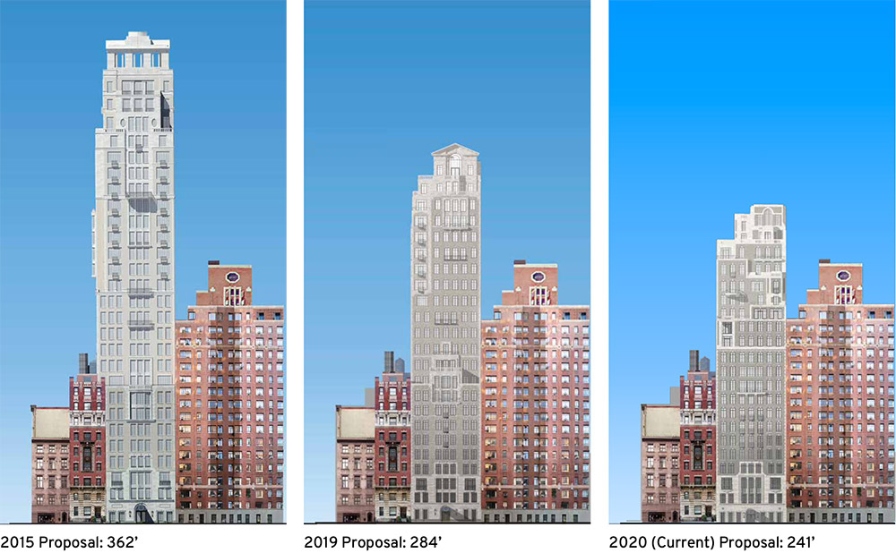 Timeline of proposed development at 14-16 Fifth Avenue - Robert A.M. Stern Architects, Madison Realty Capital