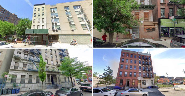 53 East 110th Street, 201 East 120th Street, 204 West 121st Street, and 304 East 126th Street in Harlem, via Google Maps