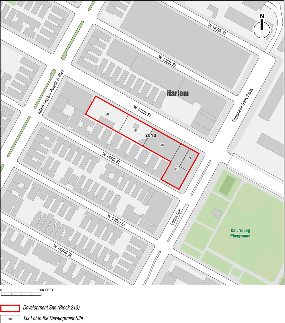 Site map of proposed One45 development in West Harlem - SHoP Architects