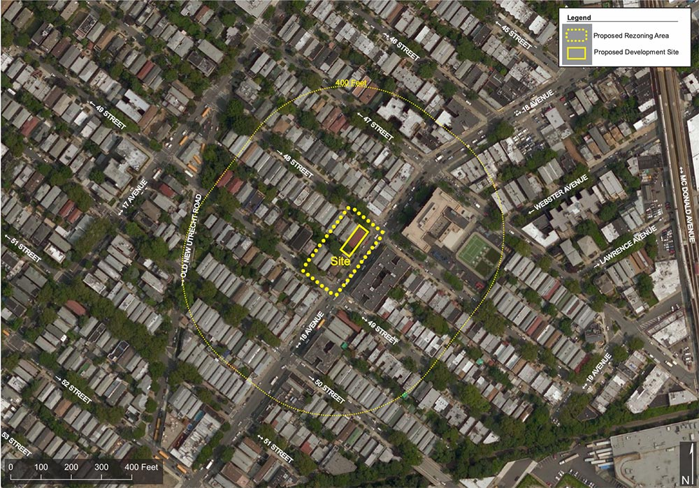 Site map of proposed development at 1776 48th Street - RSLN Architecture