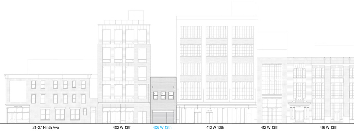 Illustration of West 13th Street elevation - Format Architecture Office