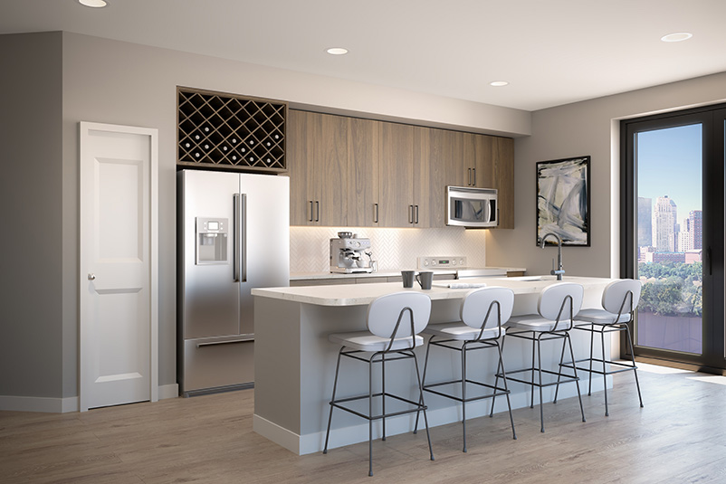 Kitchen at Dey & Bergen - Renderings by Mary Cook Associates