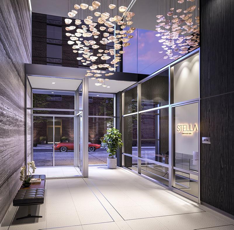 Lobby at Stella LES - BLDG Management Co.; Rotwein + Blake Architects