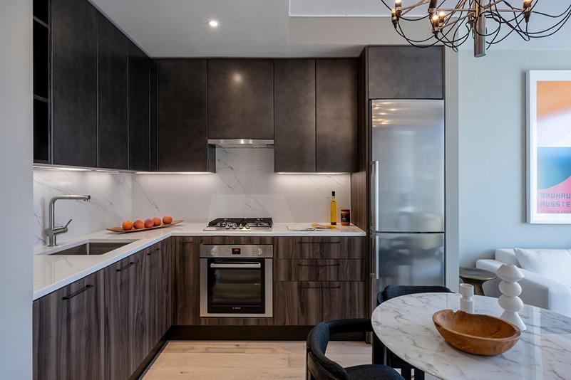 Model kitchen at Stella LES - BLDG Management Co.; Rotwein + Blake Architects