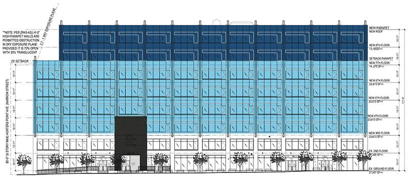 Proposed Van Dam Street East Elevation at 48-18 Van Dam Street