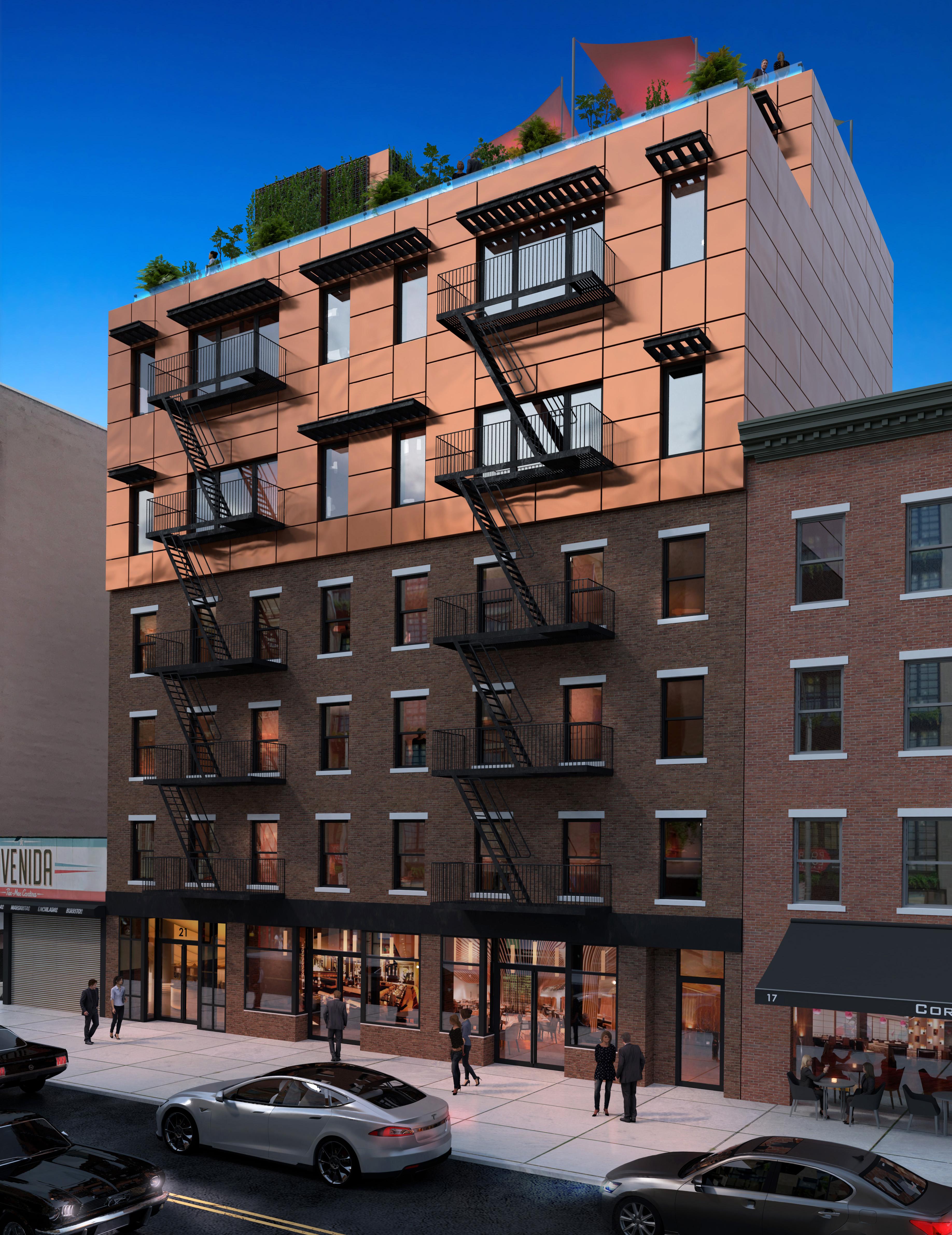 Rendering of 21-23 Avenue B - Gambino + LaPorta Architecture