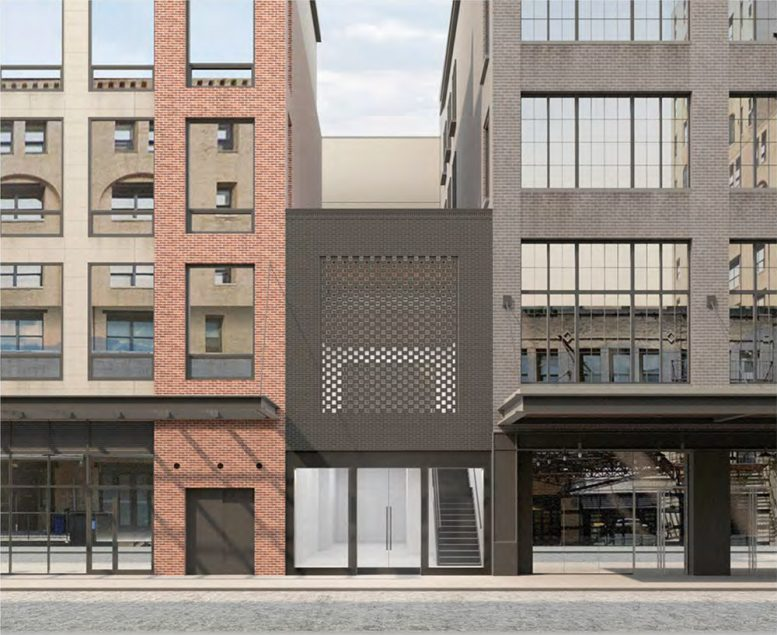 Rendering of proposed alteration at 406 West 13th Street - Format Architecture Office