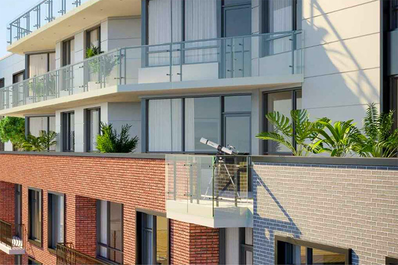 Residential balcony at 133 Beach 116th Street - Fischer + Makooi Architects