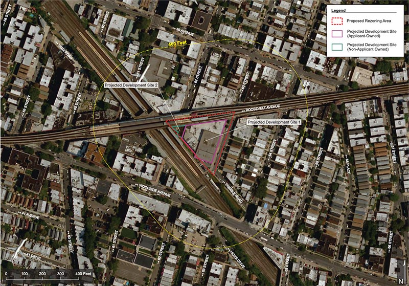 Site map of proposed property at Roosevelt Avenue and 63rd Street - Aufgang Architects