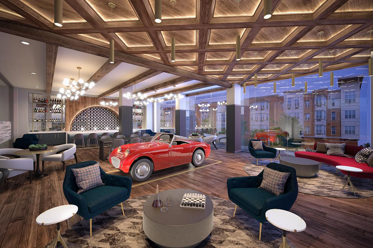 Speakeasy Lounge at Dey & Bergen - Renderings by Mary Cook Associates