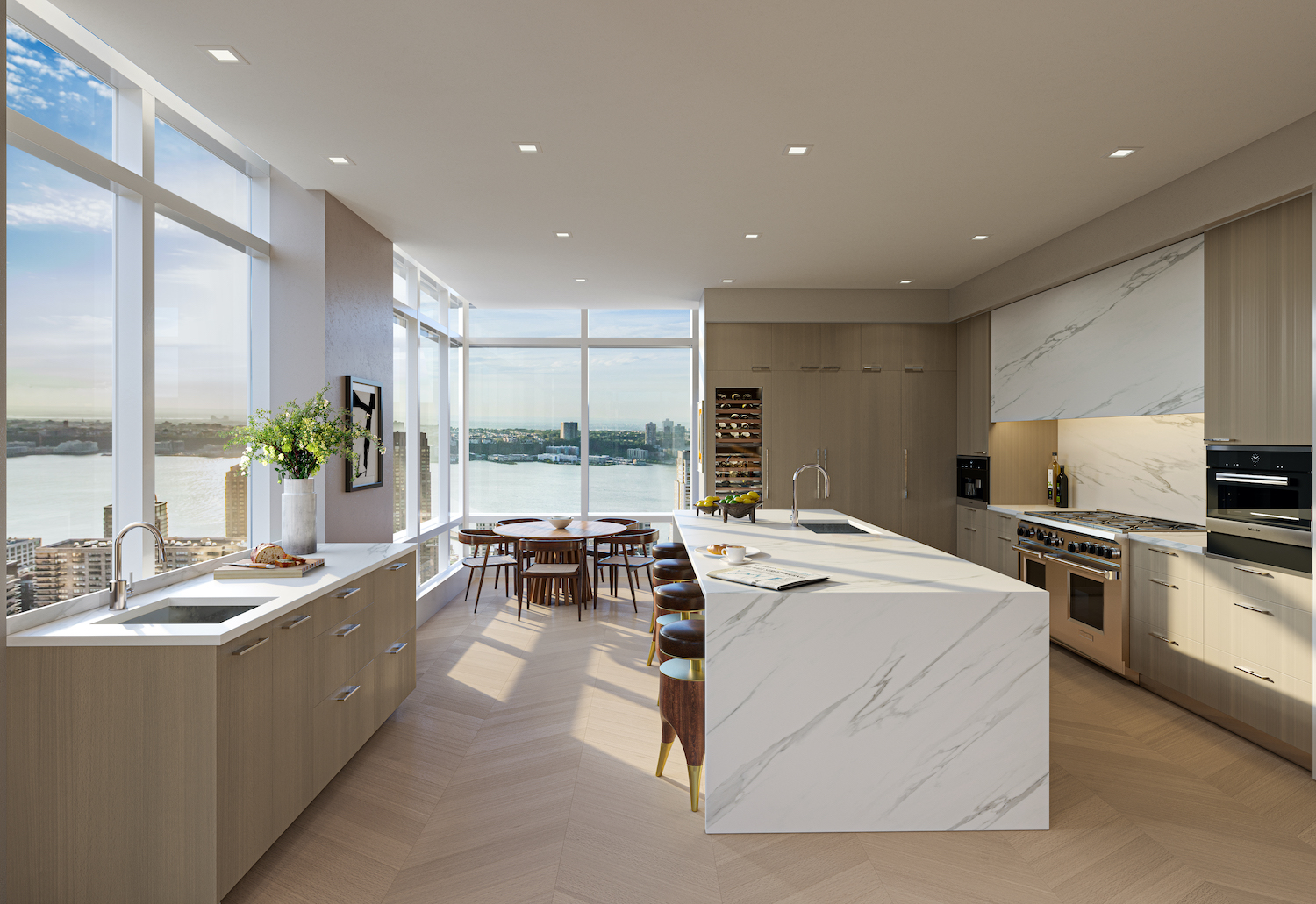 Penthouse kitchen at 200 Amsterdam on the Upper West Side
