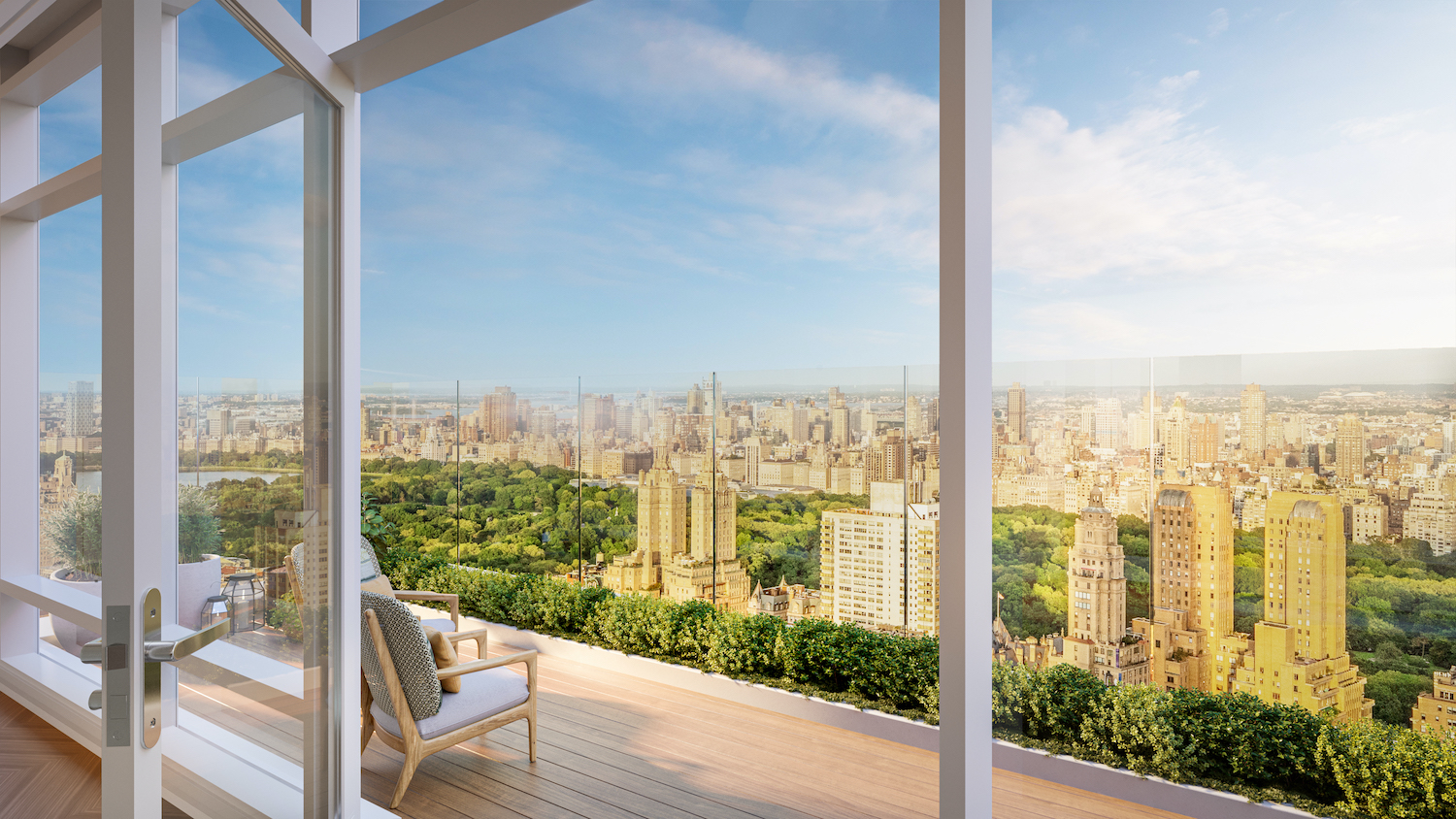Penthouse terrace at 200 Amsterdam on the Upper West Side