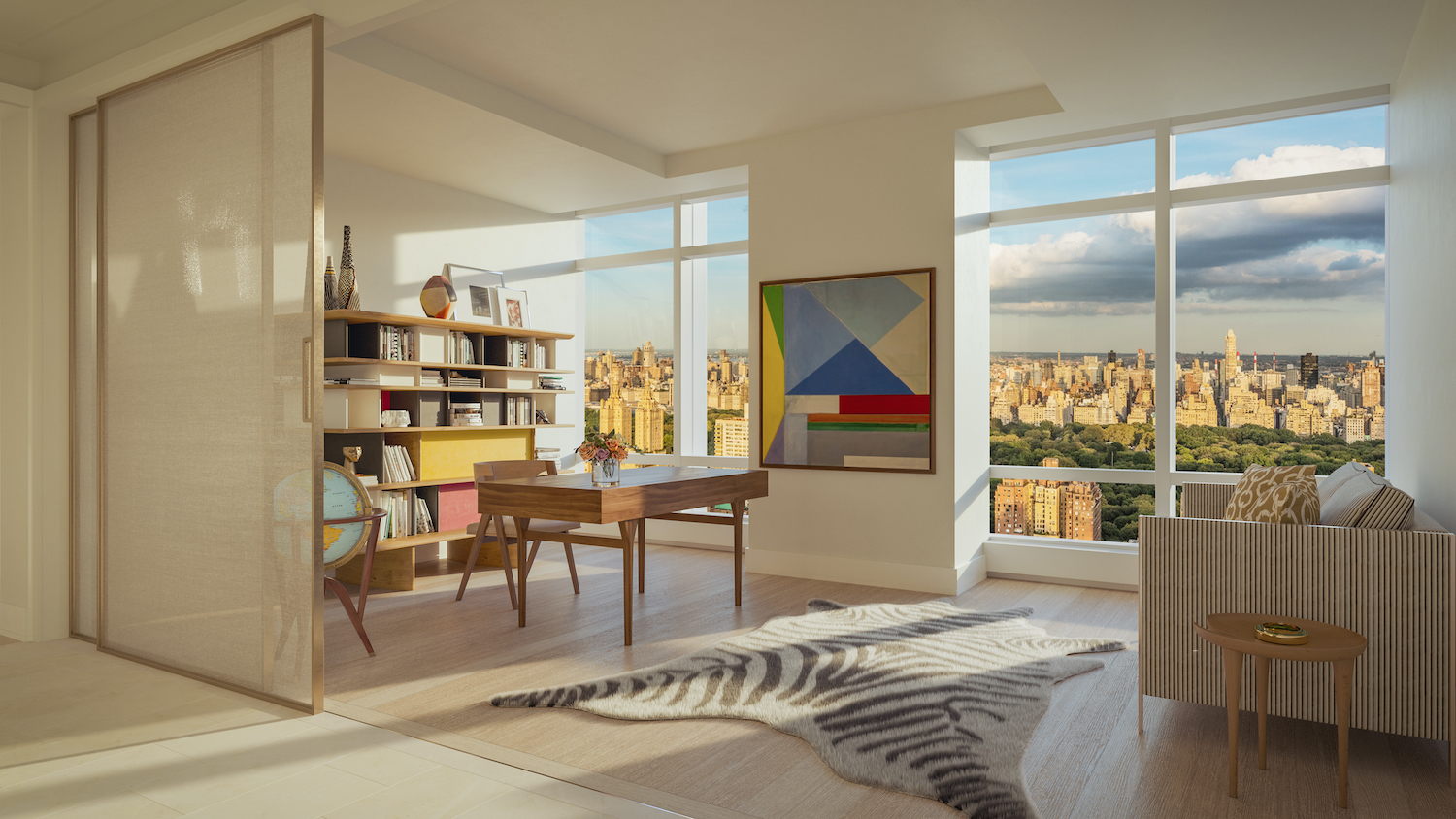 Penthouse study at 200 Amsterdam on the Upper West Side