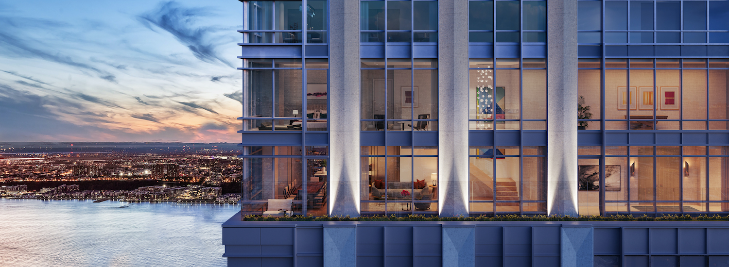 Duplex penthouse residence at 200 Amsterdam on the Upper West Side. All images by Williams New York.
